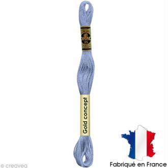 Fil à broder DMC mouliné spécial Bleu 3840 - Echevette 8 m