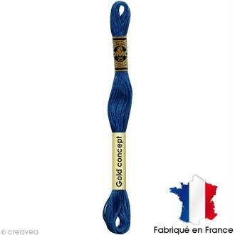 Fil à broder DMC mouliné spécial Bleu 3842 - Echevette 8 m
