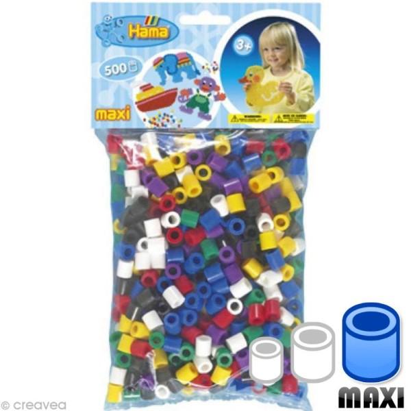 Perles Hama Maxi diam. 1 cm - Assort. pop x500 - Photo n°1