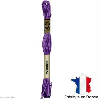 Fil à broder DMC mouliné spécial Dégradé violet 52 - Echevette 8 m
