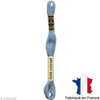 Fil à broder DMC mouliné spécial Bleu 800 - Echevette 8 m