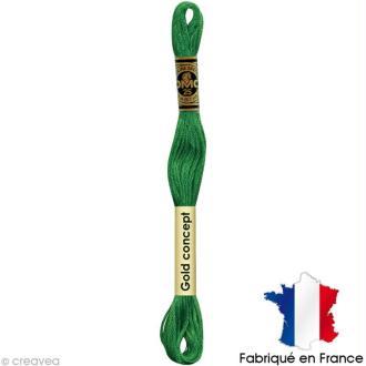 Fil à broder DMC mouliné spécial Vert 911 - Echevette 8 m