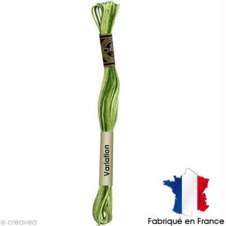 Fil à broder DMC mouliné spécial Dégradé vert clair 92 - Echevette 8 m