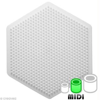 Plaque pour perles Hama Midi - Hexagonale grand modèle