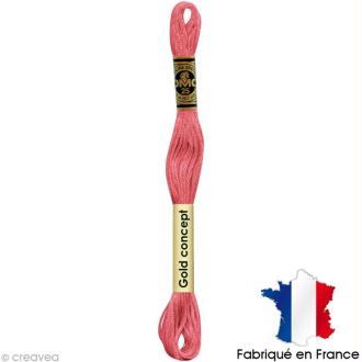 Fil à broder DMC mouliné spécial Rouge / rose 957 - Echevette 8 m