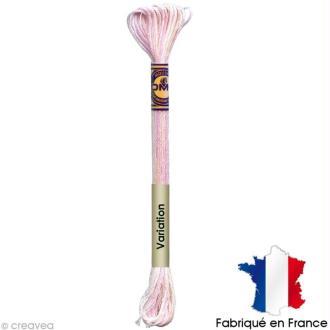 Fil à broder DMC mouliné Color variation 4170 Eau de rose - Echevette 8 m