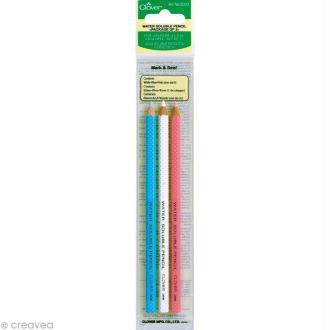 Crayon craie pour couture x 3 Clover