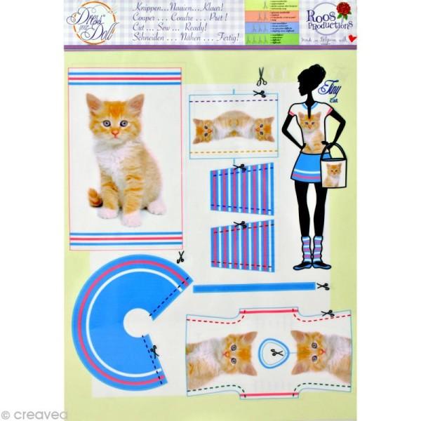 Patron Dress your doll - Niveau 1 - Tiny cat - Photo n°2