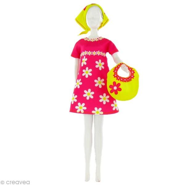 Patron Dress your doll - Niveau 2 - Twiggy daisy - Photo n°1