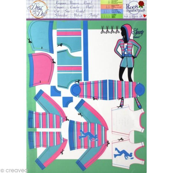 Patron Dress your doll - Niveau 4 - Sporty pastel - Photo n°3