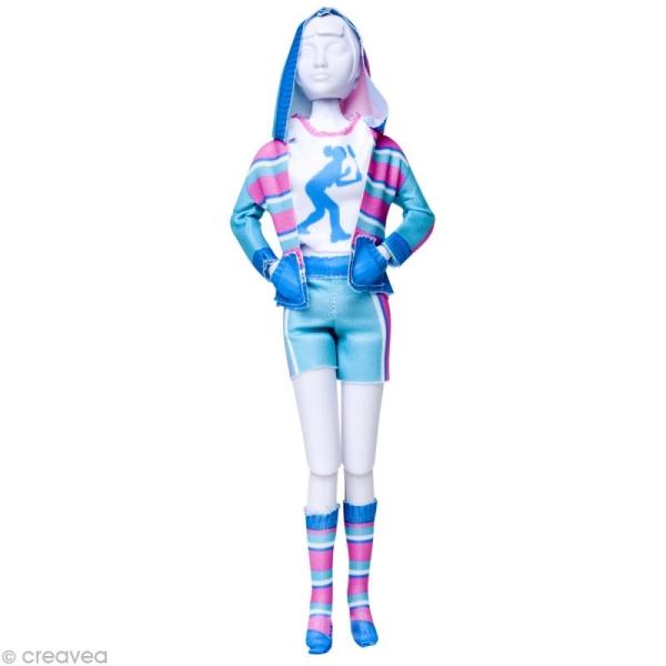 Patron Dress your doll - Niveau 4 - Sporty pastel - Photo n°1
