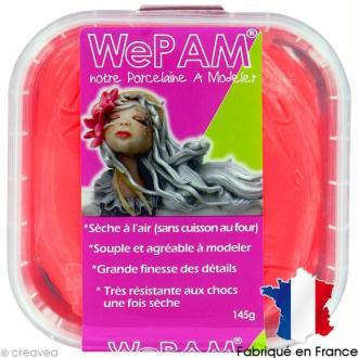 Porcelaine froide à modeler WePAM Rouge fluo 145 g