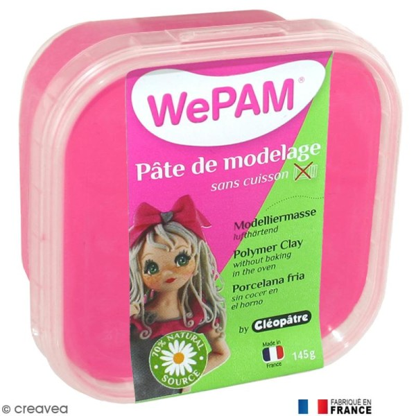 Porcelaine froide à modeler WePAM Rose fluo 145 g - Photo n°1