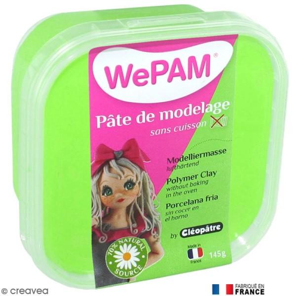 Porcelaine froide à modeler WePAM Vert fluo 145 g - Photo n°1
