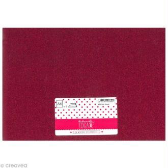 Flex thermocollant pailleté A4 - Rouge