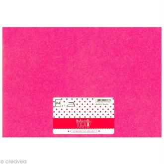 Flex thermocollant fluo A4 - Rose