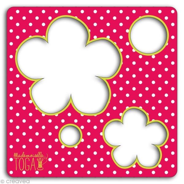 Gabarit pour appliqué - Fleurs 12,5 cm - Photo n°2