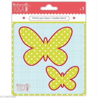 Gabarit pour appliqué - Papillons 12,5 cm