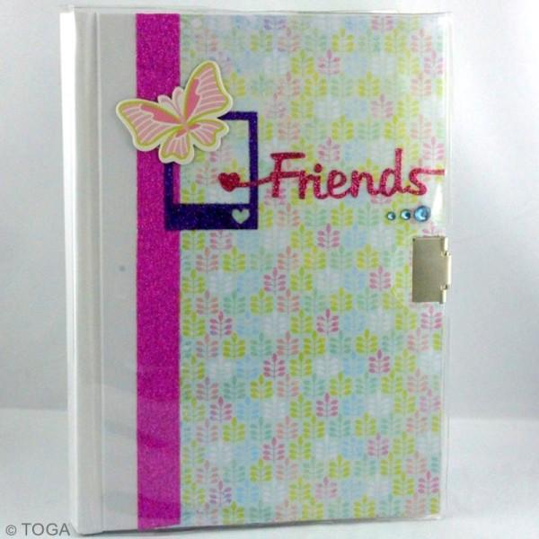 Journal intime à décorer ligné 13 x 18 cm - 180 pages - Photo n°2