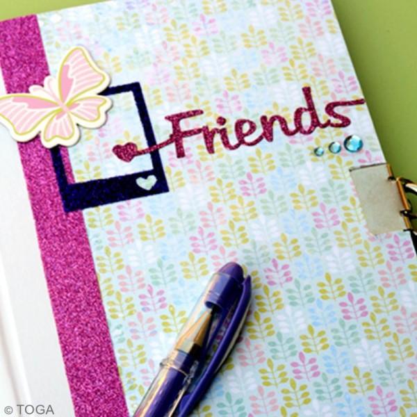 Journal intime à décorer ligné 13 x 18 cm - 180 pages - Photo n°3