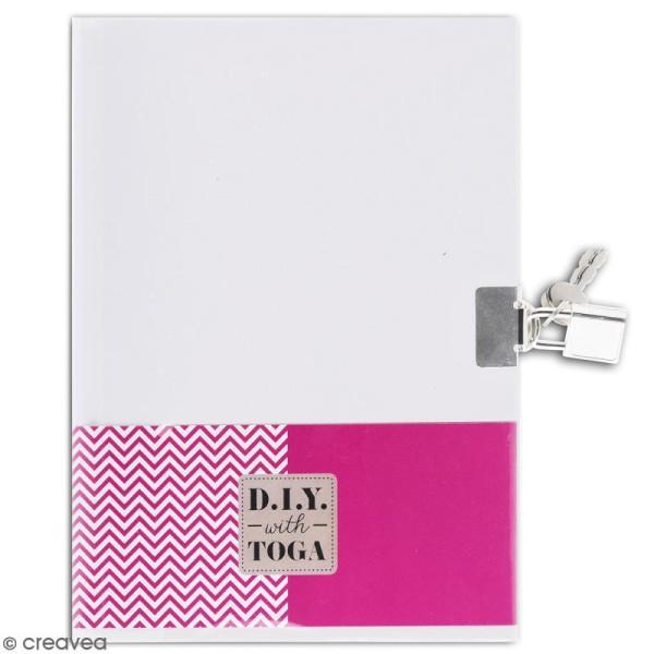 Journal intime à décorer ligné 13 x 18 cm - 180 pages - Photo n°1