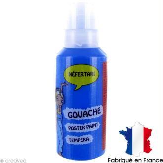 Gouache peinture Néfertari Bleu primaire 55 ml