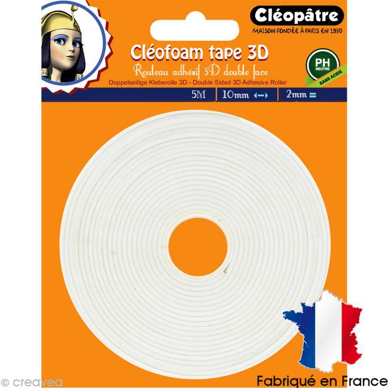 Rouleau de mousse adhésive 3D Cléofoam - 5 m - Photo n°1
