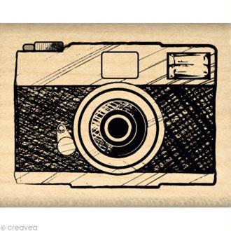 Tampon Un brin vintage - Appareil photo 4 x 5 cm