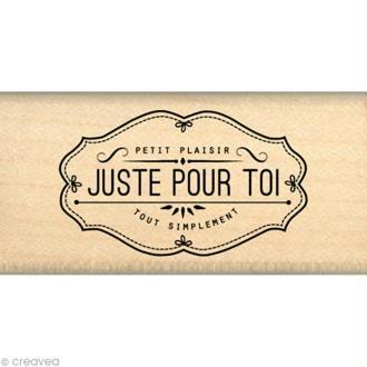 Tampon Gourmande - Petit plaisir pour toi 3 x 6 cm