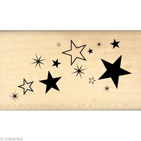 Tampon Un brin vintage - Poussière d'étoiles 4 x 7 cm - Photo n°1