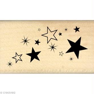Tampon Un brin vintage - Poussière d'étoiles 4 x 7 cm