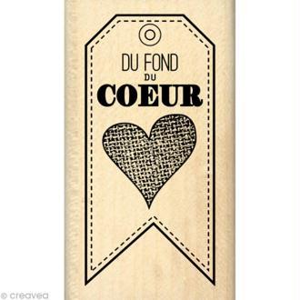 Tampon Gourmande - Du fond du coeur 4 x 7 cm
