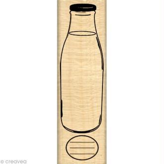 Tampon étiquette - Gourmande - Bouteille en verre 3 x 10 cm