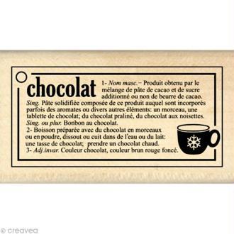 Tampon cuisine - Gourmande - Définition chocolat 4 x 7 cm