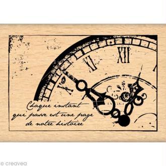 Tampon Un brin vintage - Vieille horloge 5 x 7 cm