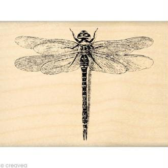 Tampon Un brin vintage - Jolie libellule 6 x 8 cm