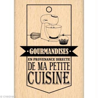 Tampon cuisine - Gourmande - De ma petite cuisine 5 x 7 cm