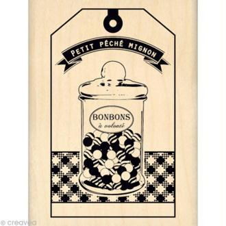 Tampon cuisine - Gourmande - Petit péché mignon 6 x 8 cm