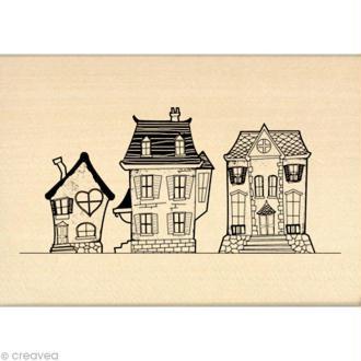 Tampon Un brin vintage - Maisons de famille 7 x 10 cm