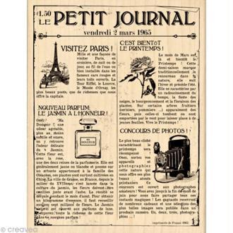 Tampon Un brin vintage - Le petit journal 10 x 13 cm