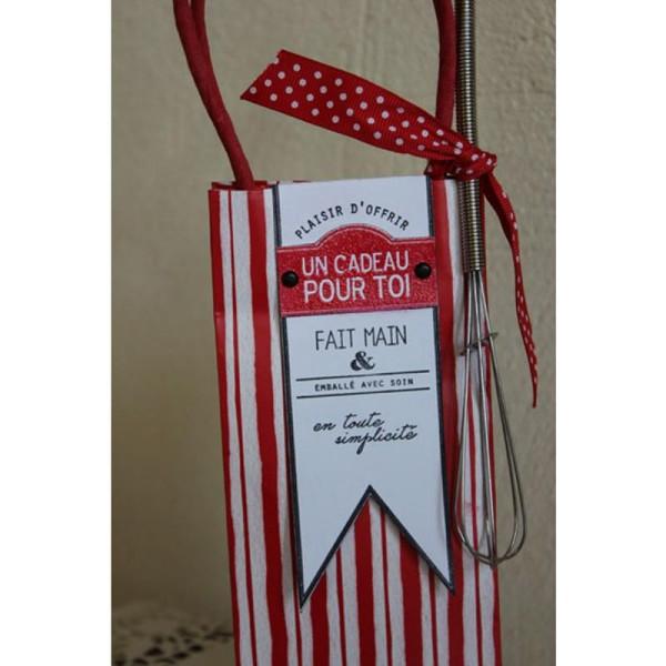 Tampon étiquette - Gourmande - Fanions Cavaliers 10 x 15 cm - Photo n°2