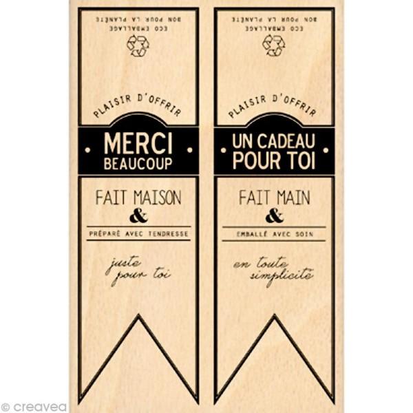 Tampon étiquette - Gourmande - Fanions Cavaliers 10 x 15 cm - Photo n°1