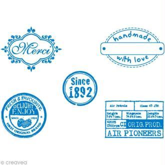 Pochoir MyStyle pour textile Etiquettes 21 x 14,8 cm