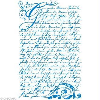 Pochoir MyStyle pour textile Vintage poésie 21 x 14,8 cm