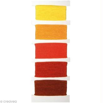 Fil Stitch & knot Orange pour bracelet brésilien - 5 x 10 m
