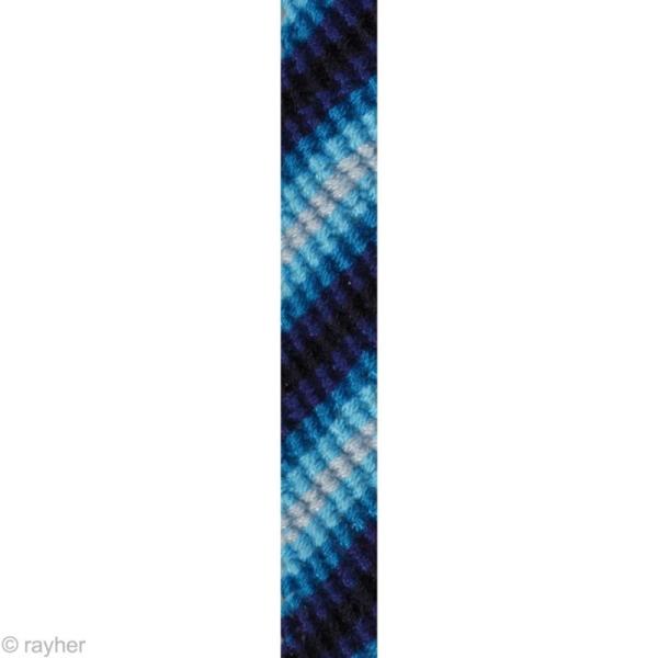 Fil Stitch & knot Bleu pur pour bracelet brésilien - 5 x 10 m - Photo n°2