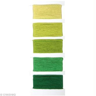 Fil Stitch & knot Vert feuillage pour bracelet brésilien - 5 x 10 m