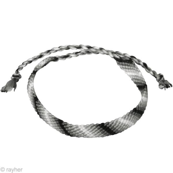 Fil Stitch & knot Gris granit pour bracelet brésilien - 5 x 10 m - Photo n°3