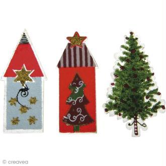 Miniature en bois Noël - Christmas village - Maisonnettes x 12