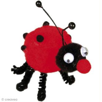 Kit pompon enfant - Dolly le scarabée